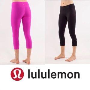 Lululemon reversible  crop leggings sz 8